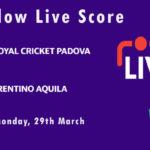 RCP vs TRA Live Score, ECS Italy, Venice, 2021, RCP vs TRA Scorecard Today