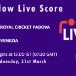 RCP vs VEN Live Score, ECS Italy, Venice, 2021, RCP vs VEN Scorecard Today