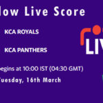 ROY vs PAN Live Score, KCA Presidents Cup T20, 2021, ROY vs PAN Dream11 Today Match