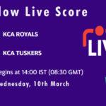 ROY vs TUS Live Score, KCA Presidents Cup T20, 2021, ROY vs TUS Dream11 Today Match