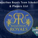 Rajasthan Royals IPL 2021 Team Schedule & Players List