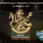 Royal Challengers Bangalore IPL 2021 Team Schedule & Players List