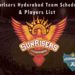 Sunrisers Hyderabad IPL 2021 Team Schedule & Players List