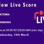 VCT vs TAS Live Score, Marsh One Day Cup, 2021, VCT vs TAS Dream11 Today Match