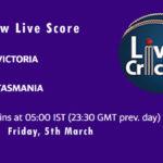 VCT vs TAS Live Score, Sheffield Shield, 2020-21, VCT vs TAS Dream11 Today Match