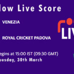 VEN vs RCP Live Score, ECS Italy, Venice, 2021, VEN vs RCP Scorecard Today