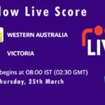 WAU vs VCT Live Score, Sheffield Shield 2021, WAU vs VCT Scorecard Today