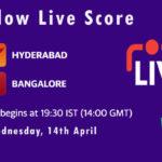 SRH vs RCB Live Score, IPL 2021, SRH vs RCB Scorecard Today, SRH vs RCB Dream11 Team Prediction