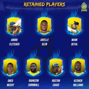 St. Lucia Zouks Team Squad 2021