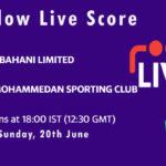 AL vs MSC Live Score, Dhaka T20 League 2021, AL vs MSC Playing XIs
