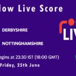 DER vs NOT Live Score, T20 Blast, 2021, DER vs NOT Playing XIs