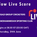 GGC vs MSC Live Score, Dhaka Premier League 2021, GGC vs MSC Playing XIs